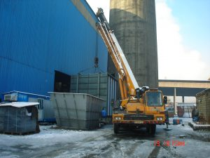 Construction and installation of agglomeration equipment
