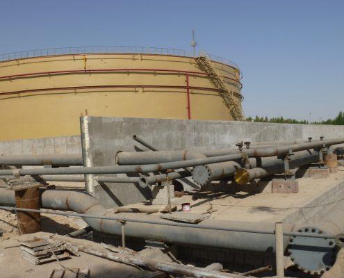 Construction of steel tanks of Bandar Abbas Power Plant