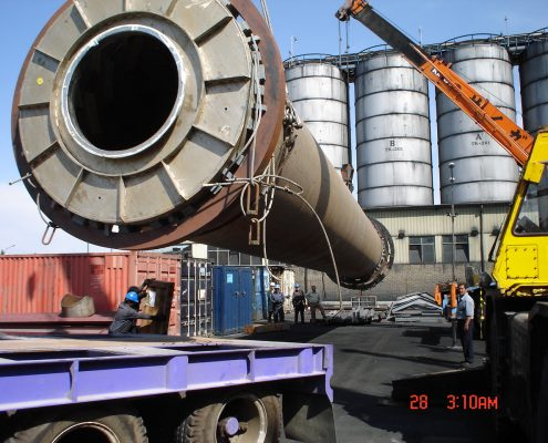 Installation and commissioning of industrial carbon black plant