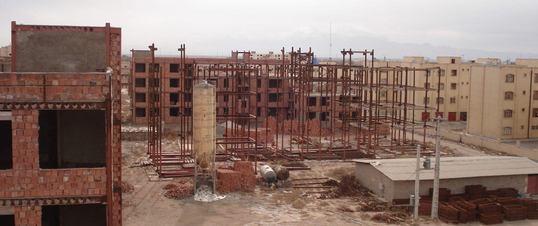 Construction of the 263 - unit Khajoo Kermani residential complex