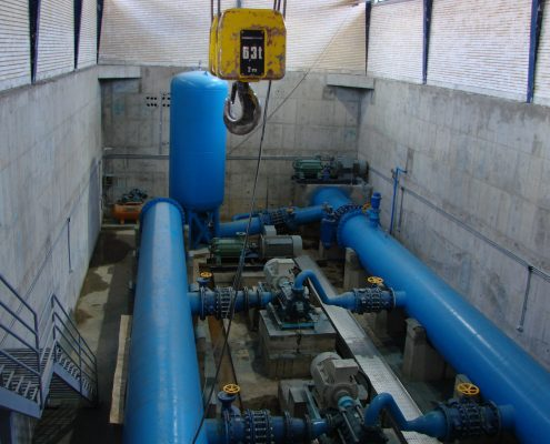 Construction of buildings and electrical and mechanical equipment of water pumping station from Talegha n to the Second Karaj Water Treatment Plant
